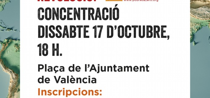 CONCENTRACIÓ DE POBRESA ZERO EN VALÈNCIA 17 Octubre a les 18h en Pl. Ajuntament