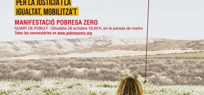 Manifestació POBRESA ZERO en Quart de Poblet