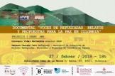 """Proyección del documental: """"Voces de refugiadas. Relatos y propuestas para la paz de Colombia"""""""
